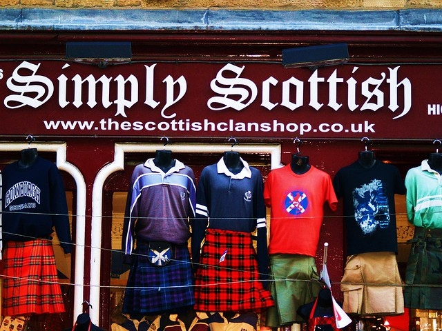 Tourist shop on Royal Mile, Edinburgh, Scotland.