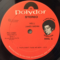 JAMES BROWN:HELL(LABEL SIDE-D)