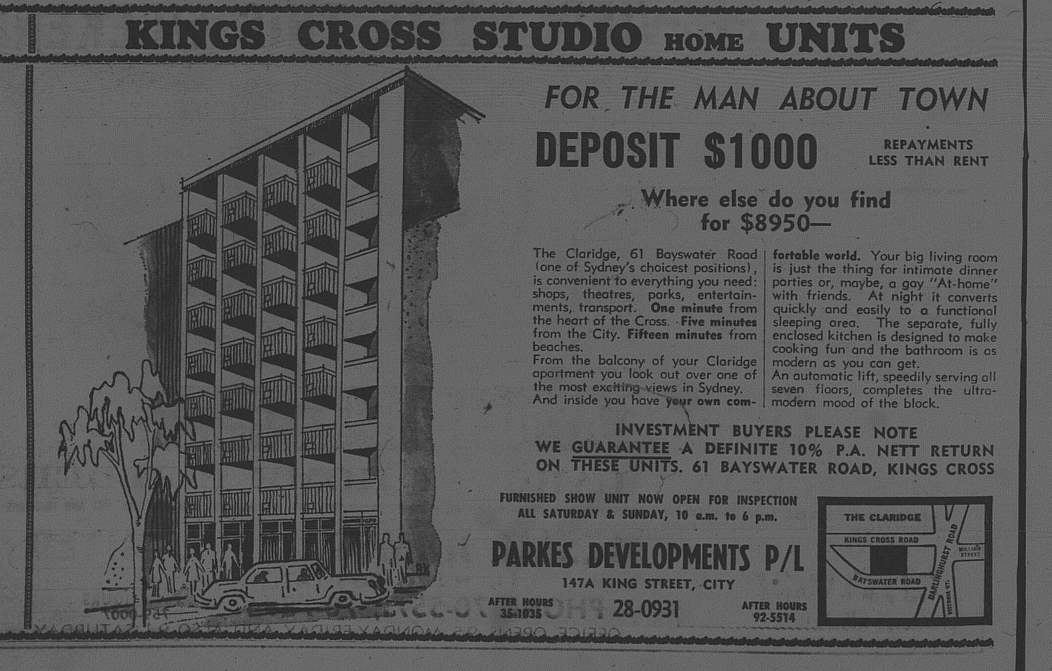 61 Bayswater Road Kings Cross February 24 1966 daily telegraph 24
