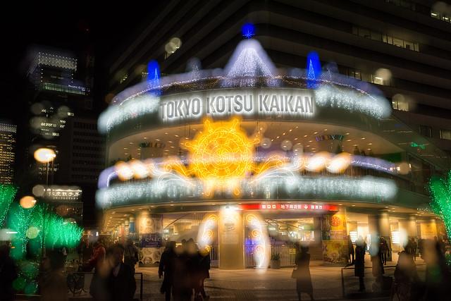 有楽町の交通会館の夜景の写真