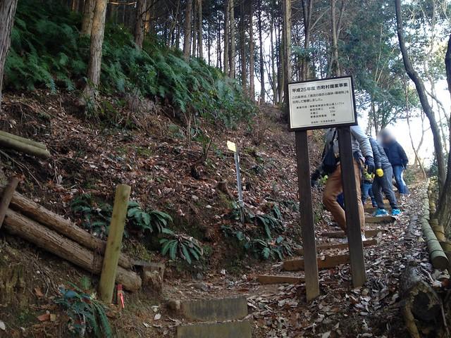 城山 猿啄城展望台 登山道 分岐
