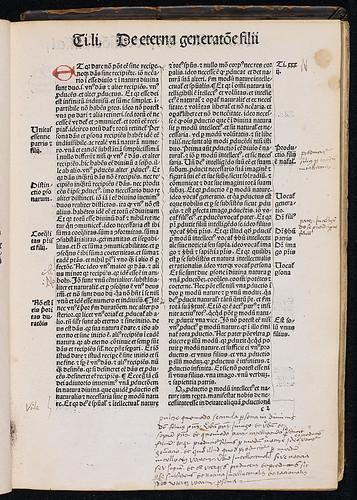 Raymundus de Sabunde: Theologia naturalis, sive Liber creaturarum - Manuscript annotations
