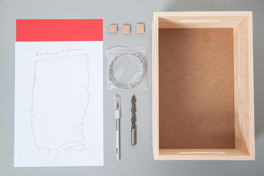 DIY Diorama de papel · Caja de luz · DIY Paper diorama lightbox · Fábrica de Imaginación · Tutorial in Spanish
