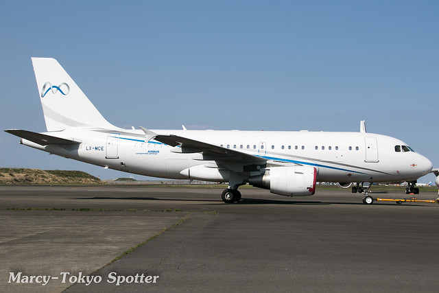 Global Jet Luxembourg / A319-115CJ / LX-MCE / HND