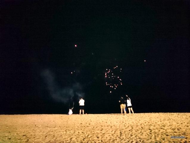 Chuseok festival fireworks