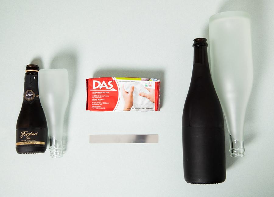DIY Jarrones con botellas cortadas · DIY Vassels with bottles · Fábrica de Imaginación · Tutorial in Spanish