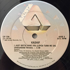 KASHIF:I JUST GOTTA HAVE YOU(LOVER TURN ME ON)(LABEL SIDE-B)