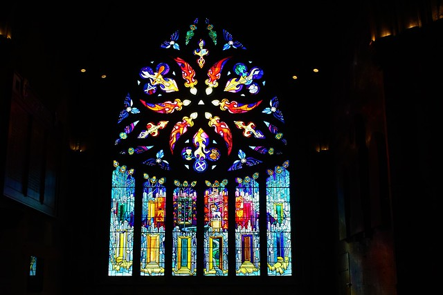 Stained glass window created by Crear McCartney