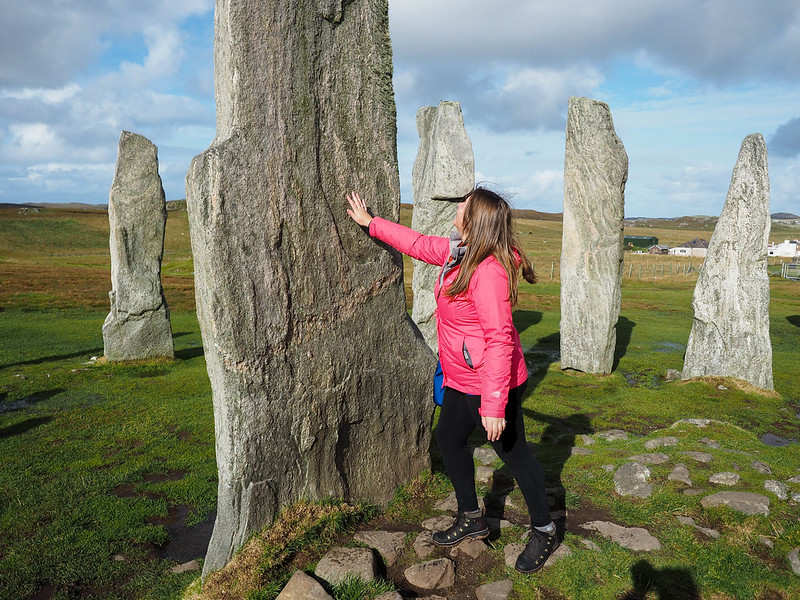Amanda at the Callanish Standing Stones