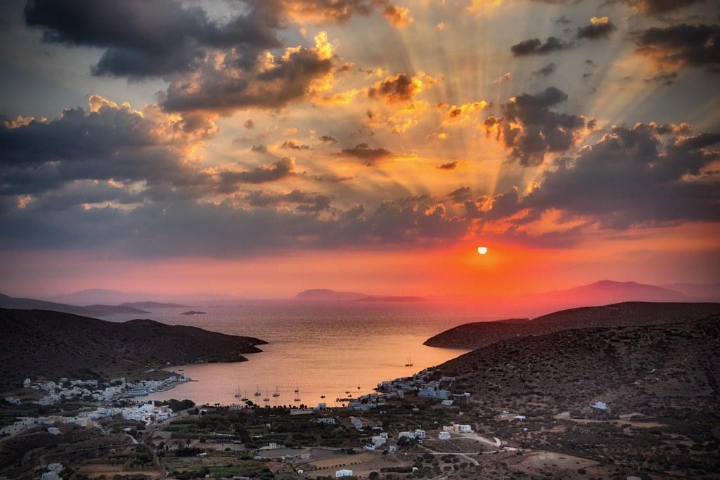 Sunset Over Katapola