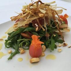 Ensalada de Rucula parmesano y jamón ibérico