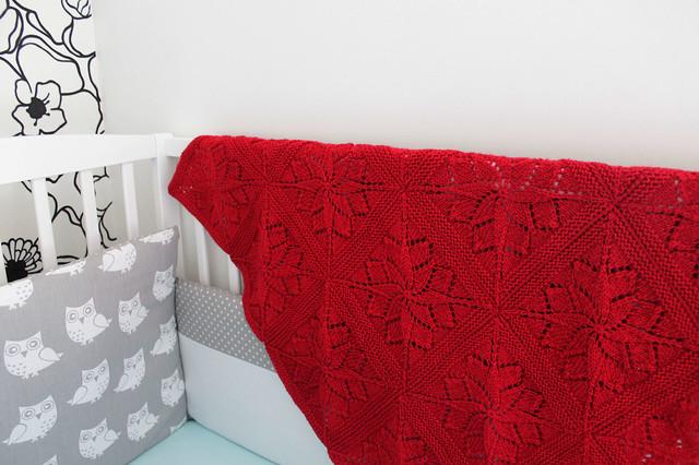 Red baby blanket (Vivid blanket)