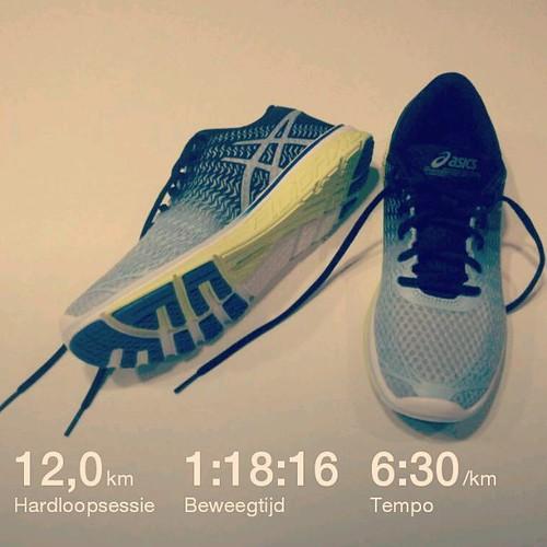 Met deze 12 kilometer haalde ik vandaag al mijn jaardoelstelling binnen: 1500 km! Waarna ik mezelf trakteerde op nieuwe schoentjes. #asics #running #nevernotrunning #running