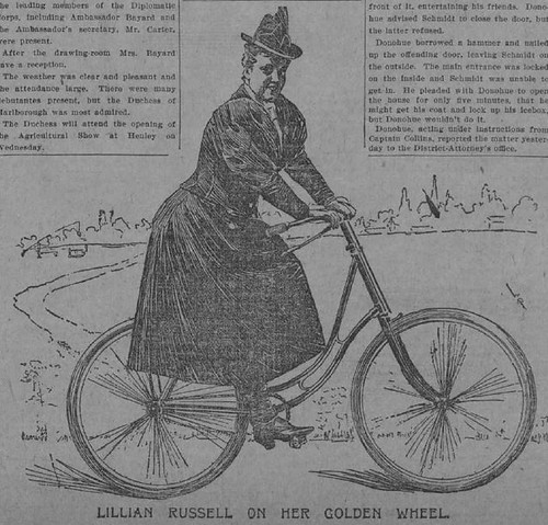 LILLIAN RUSSELL'S UNLUCKY CYCLING,