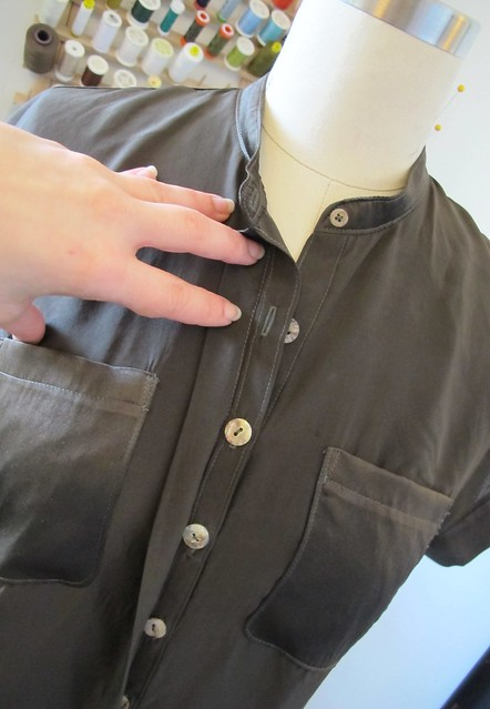 Mélilot shirt - hidden placket detail