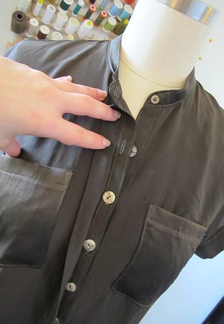 Mélilot shirt - hidden placket detail