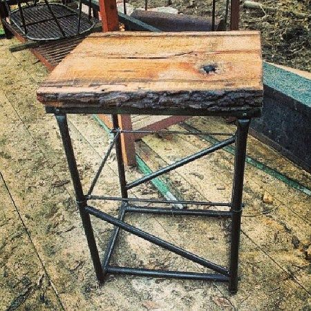 Rustic Side Table Repurposed Furniture By Raymond Guest