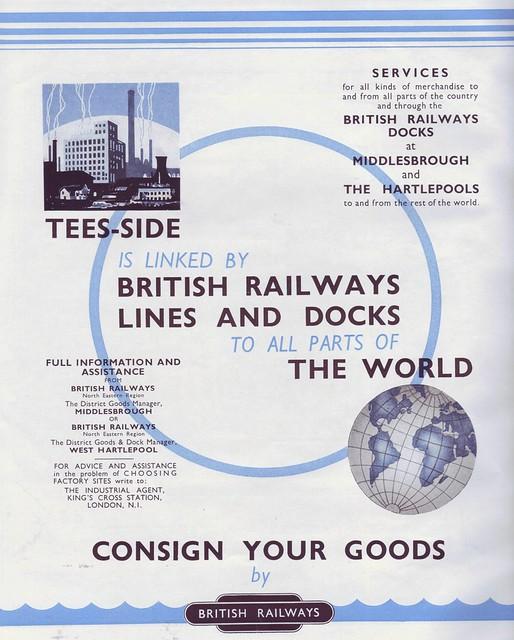 Teesside, British Railways advert 1949