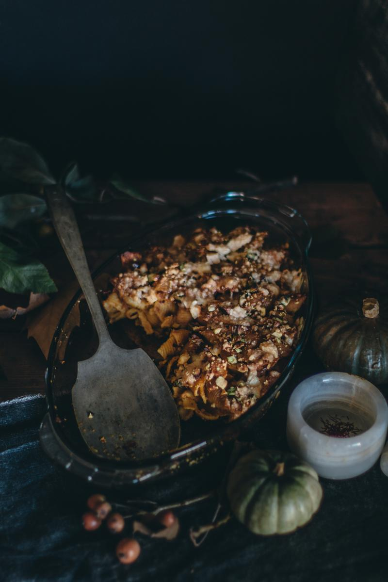 Saffron Pumpkin Pasta Bake for Virtual Pumpkin Party | Pasta al Forno con la Zucca | Lab Noon by Saghar Setareh-15