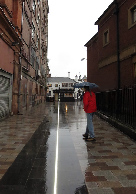 A Lit Line Leads Us Straight to Kelly's Cellar Pub in Belfast Ireland