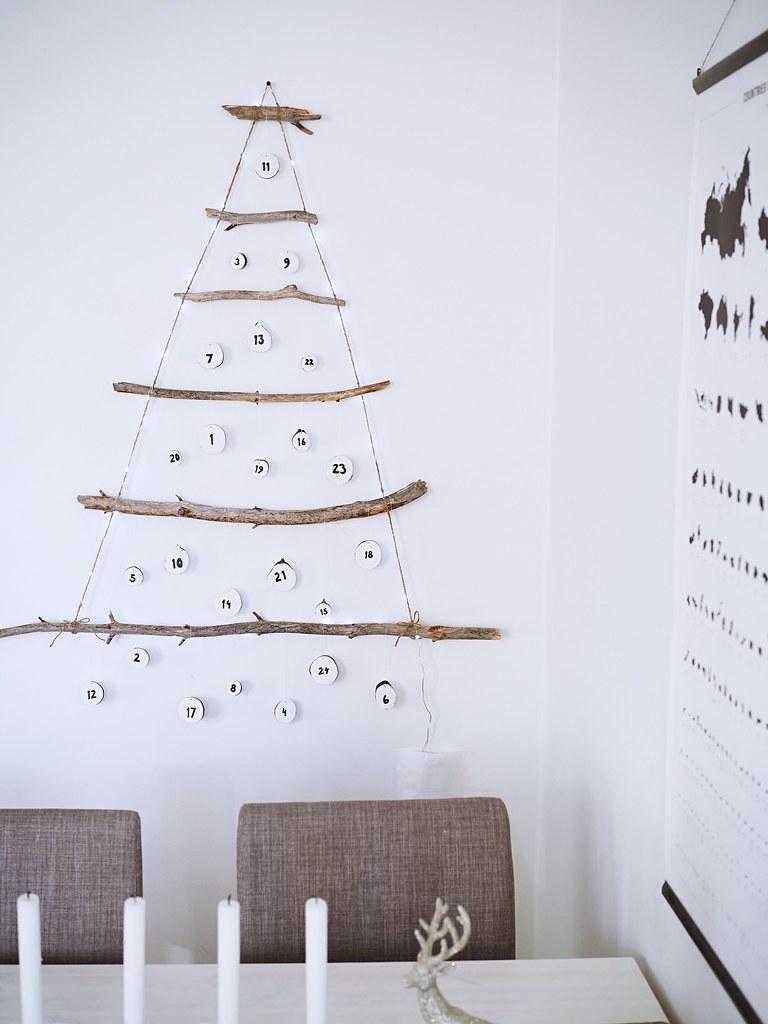 Itse tehty joulukalenterikuusi