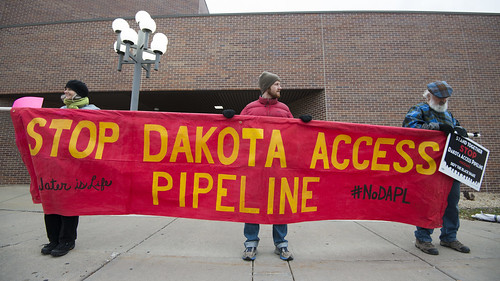 Protest against the Dakota Access Pipeline at US Bank