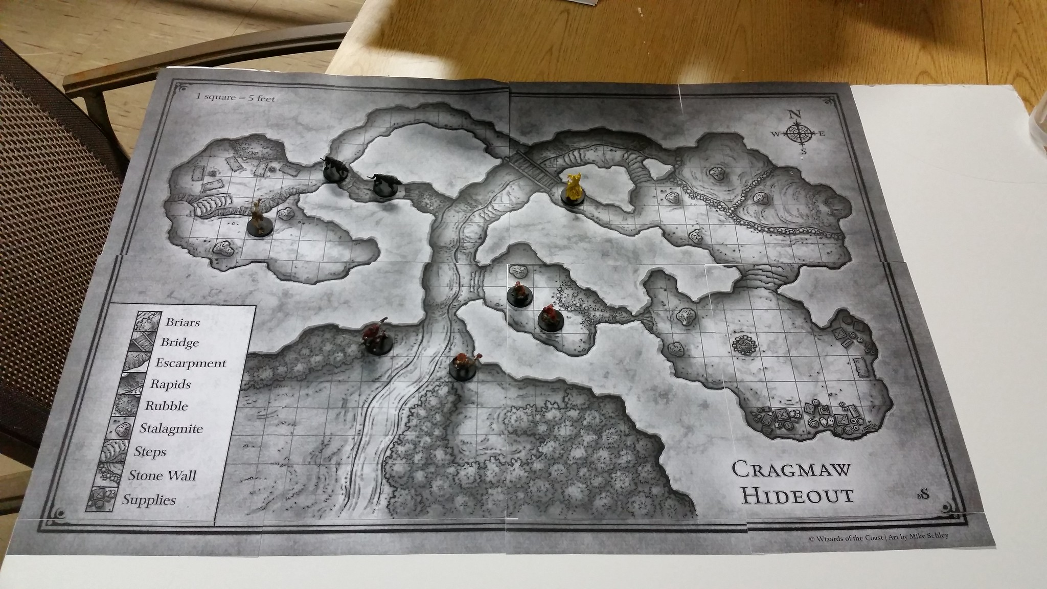 picture relating to Redbrand Hideout Map Printable identified as Mephs Gaming Prep DMs Craft