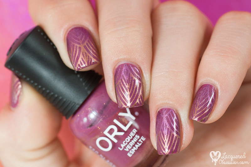 Orly - Hillside Hideout + ombré stamping