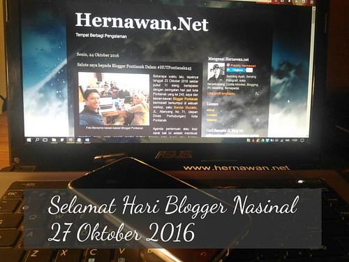 Selamat hari Blogger nasional, 27 Oktober 2016. (2007 - 2016)
