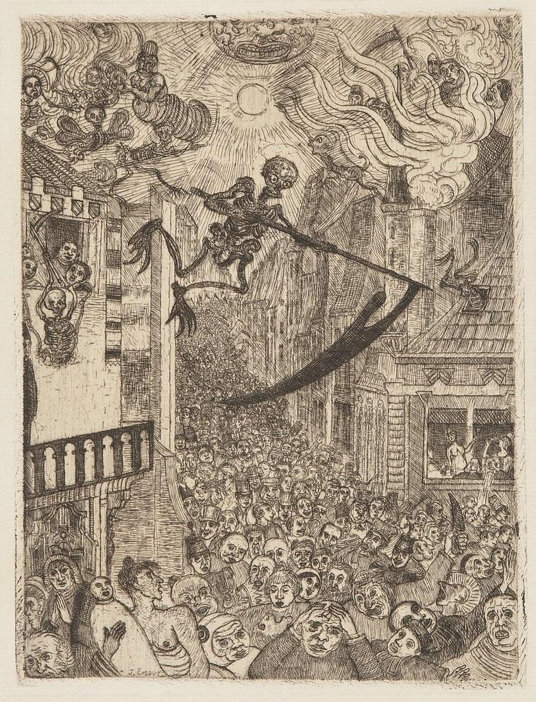 James Ensor - Death Chasing the Flock of Mortals, 1896