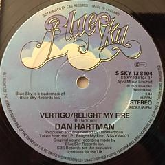 DAN HARTMAN:RELIGHT MY FIRE(LABEL SIDE-B)