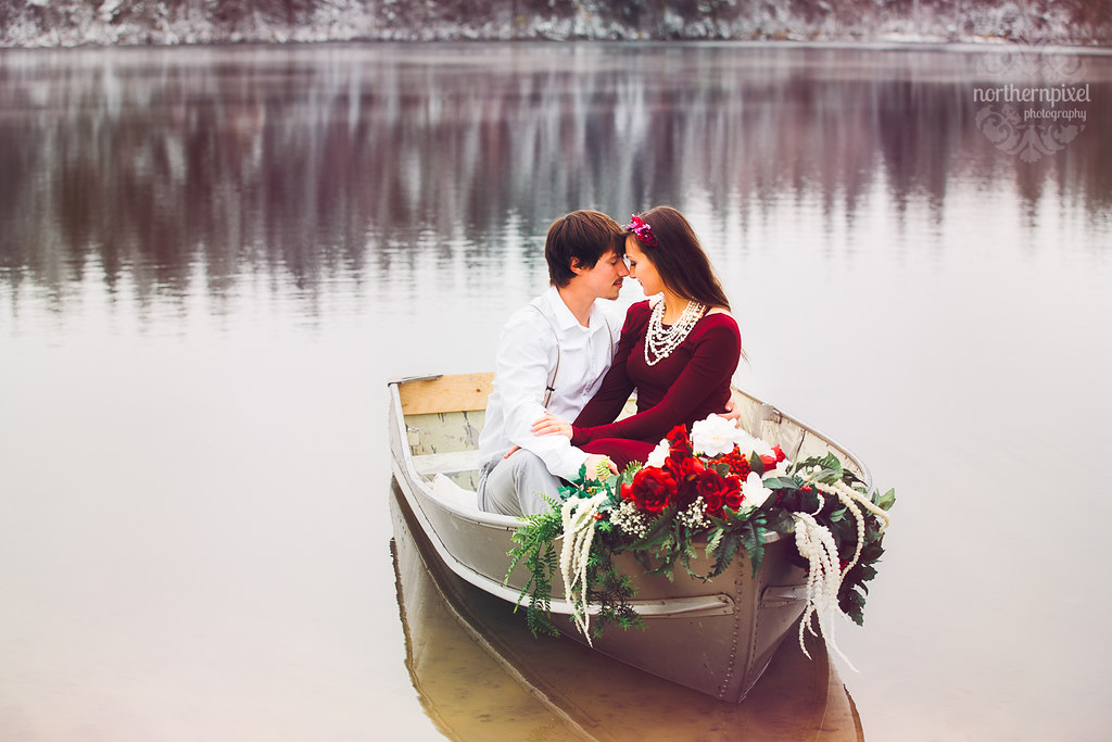 Rowboat Engagement Photography Session Vanderhoof British Columbia Elopement