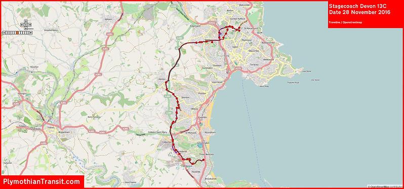 2016 11 28 Stagecoach Devon Route-013C Map.jpg