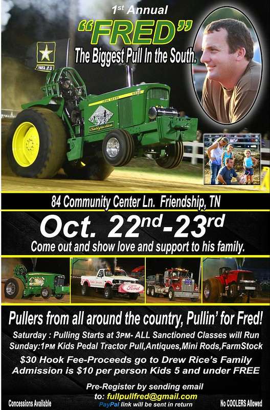 Re: FRED benefit pull - Awesome weekend - Crockett Mills, TN