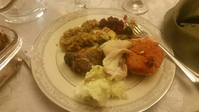 A small overview of our Thanksgiving plate
