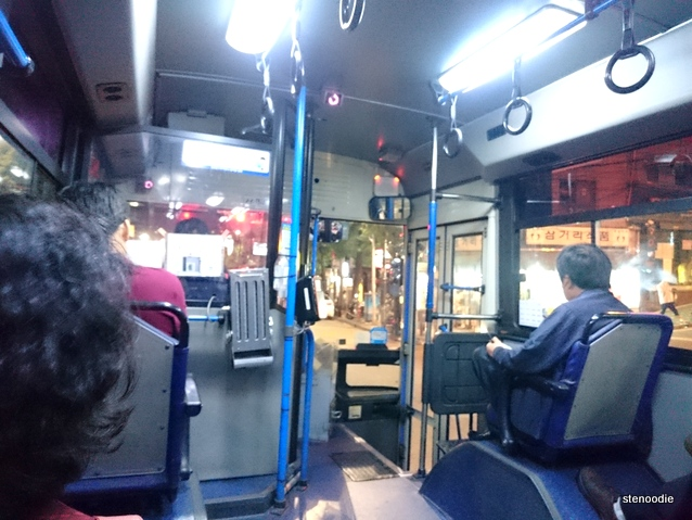 261 bus to Myeongdong