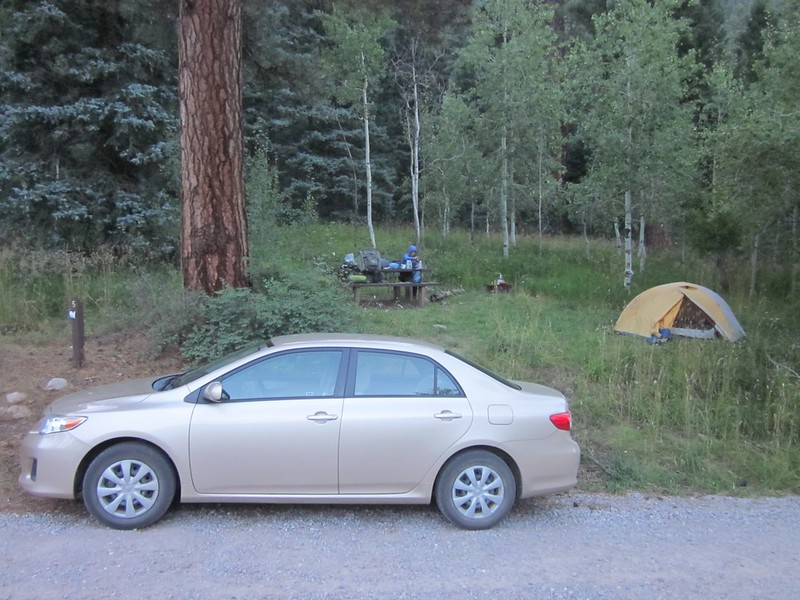 Back at the Pine River Campground where we ate dinner and enjoyed the feeling of NOT roughing it