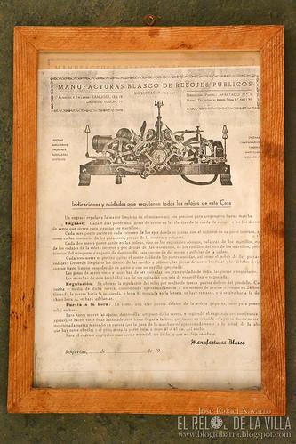 Instrucciones de Manufacturas Blasco