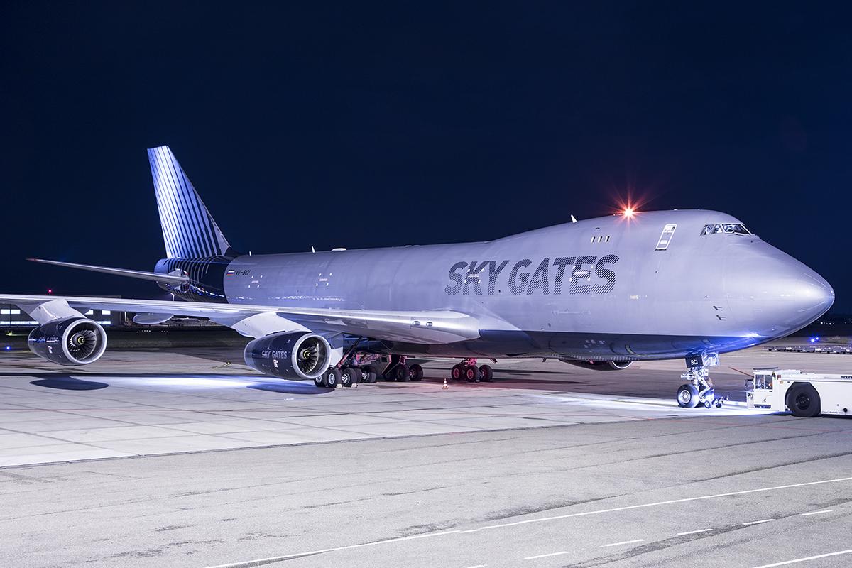 VP-BCI Sky Gates Airlines Boeing 747-467F, Maastricht Aachen Airport - EHBK/MST