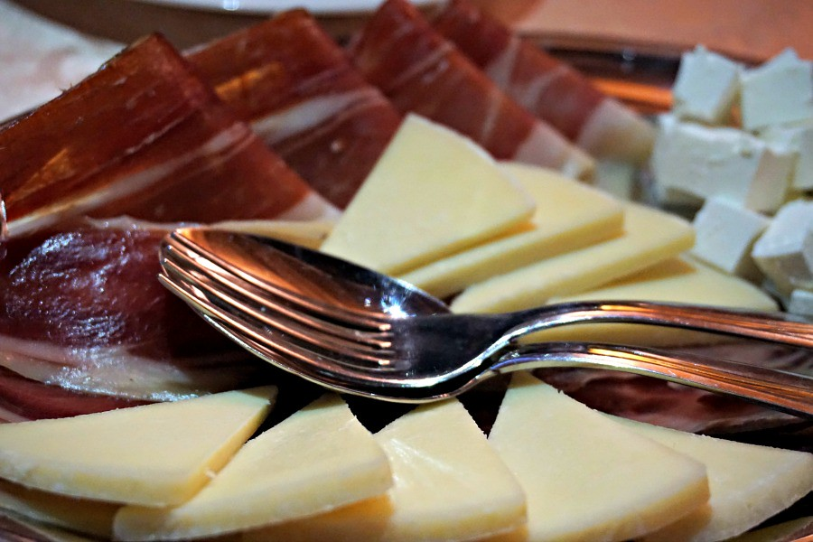 Split Wine Cheese Meat