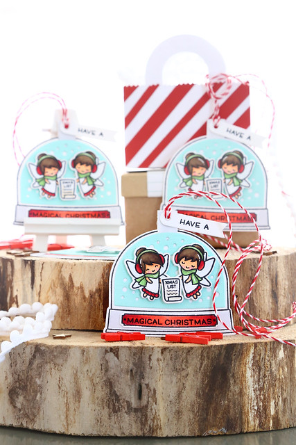 25 days of Christmas tags (with Lawn Fawn)