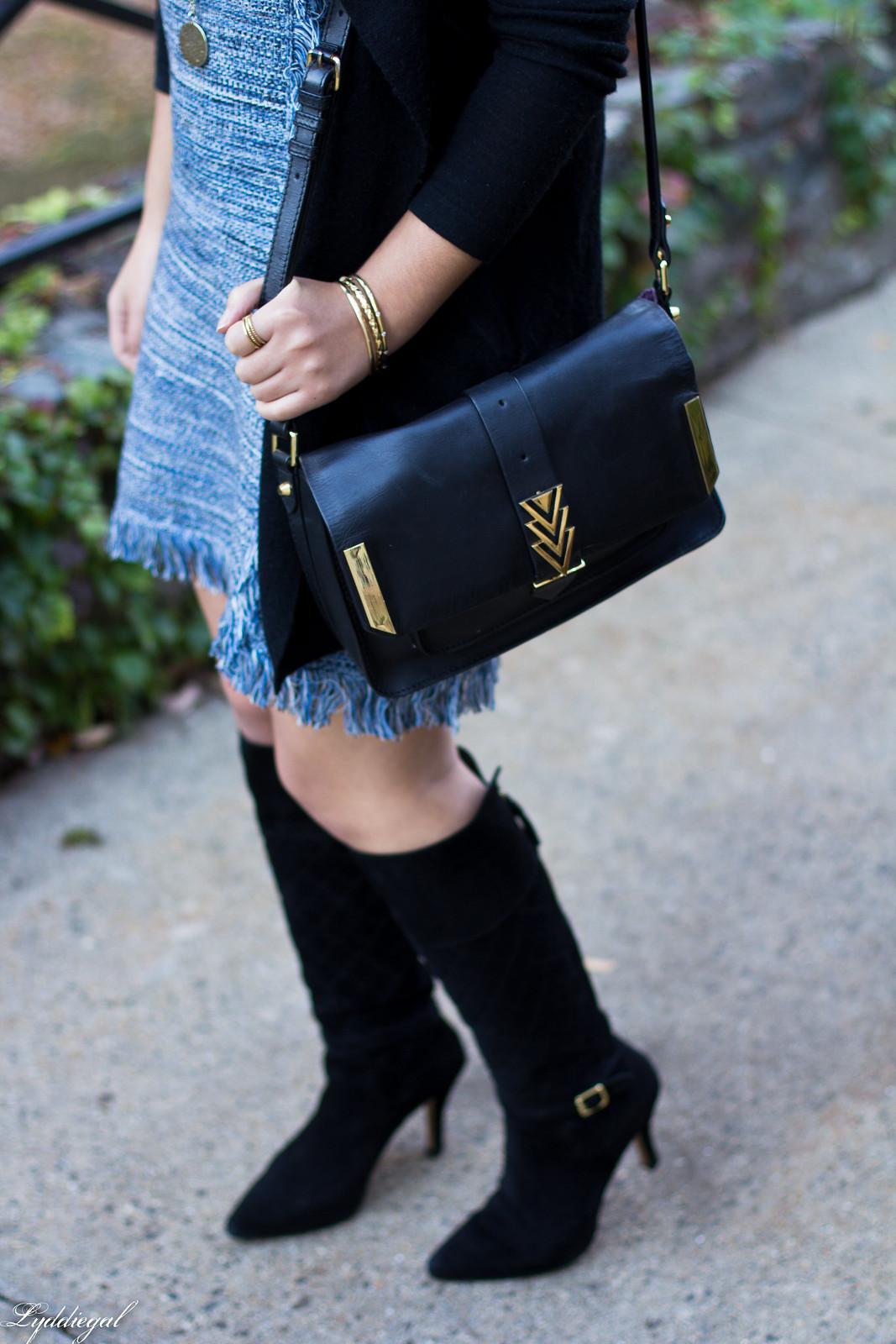 blue knit dress, black cardigan, black suede boots-9.jpg