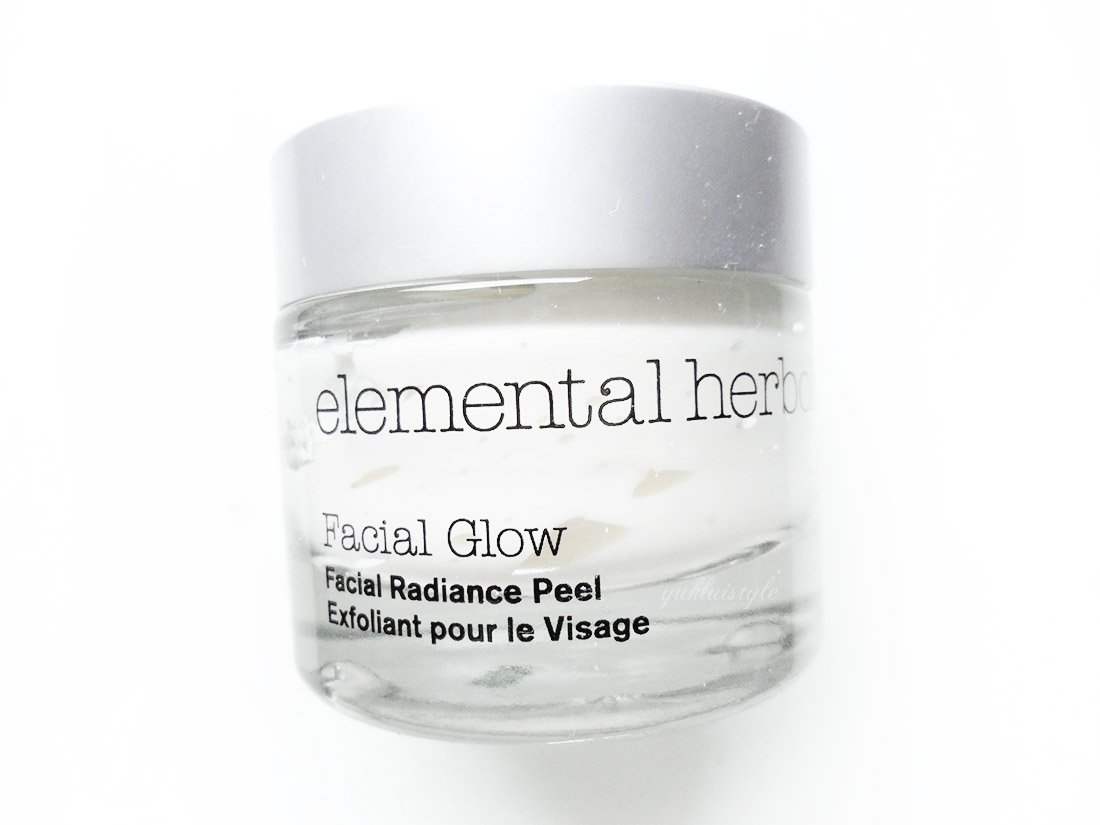 Elemental Herbology Facial Glow Radiance Peel review and swatch