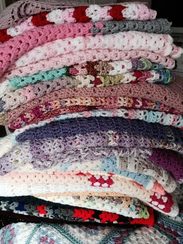 29 Shawls for Lady Katherine Leveson Care Home. Thanks everyone x
