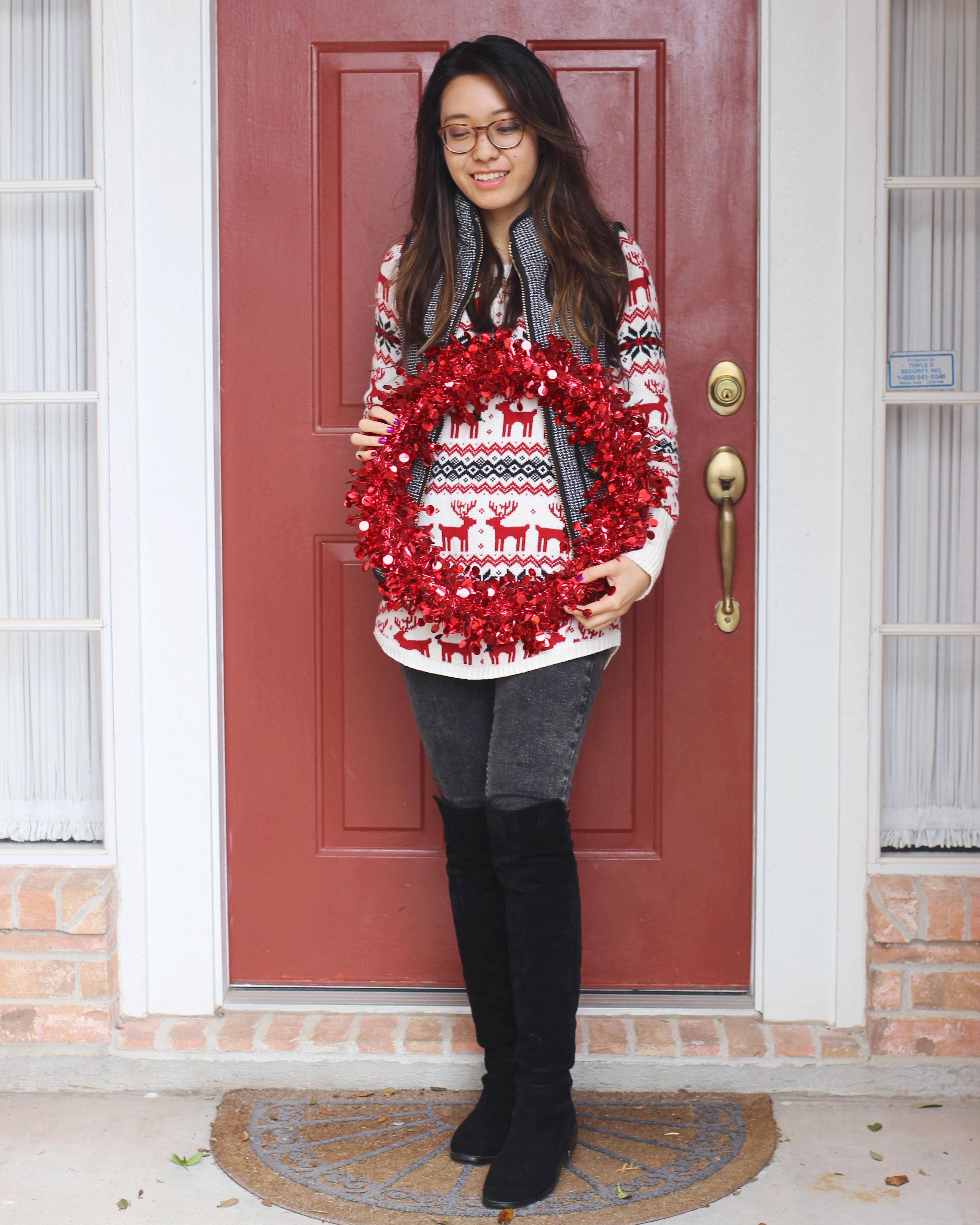 Reindeer holiday sweater tunic from TJMaxx