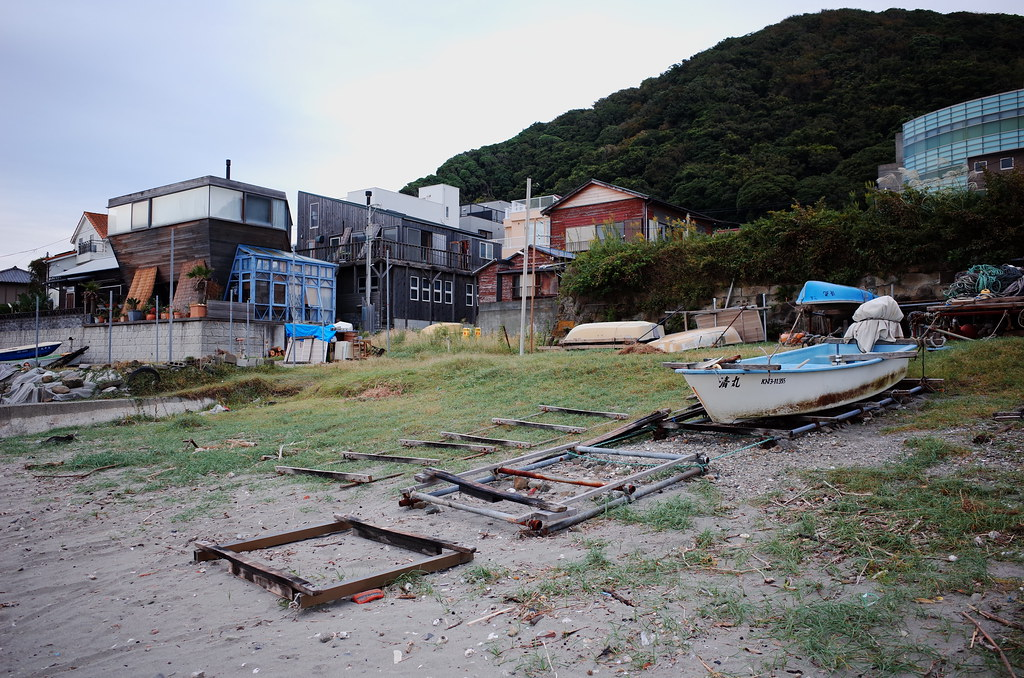 Japanese fishing village