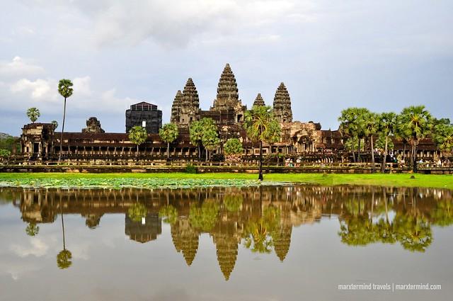 Gloomy Sunset at Angkor Wat