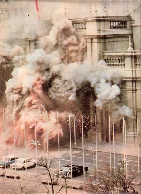 Incendio Palacio de Gobierno 11 Septiembre 1973