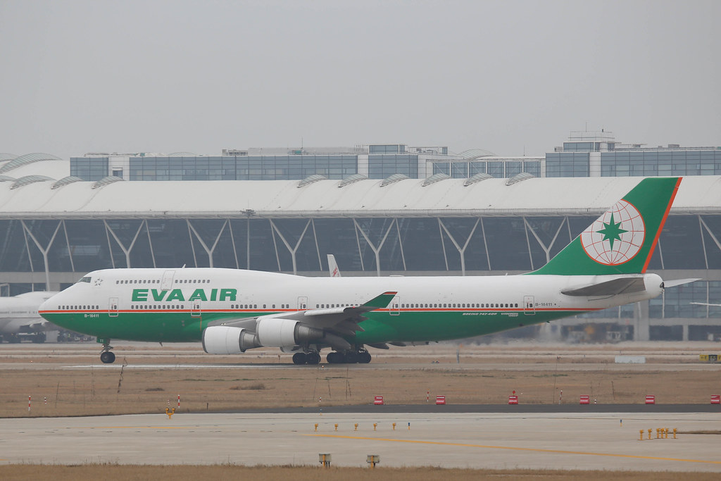 EVA Air Boeing 747-400 in PVG