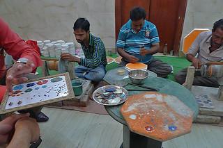 Agra - Marble inlaid stones